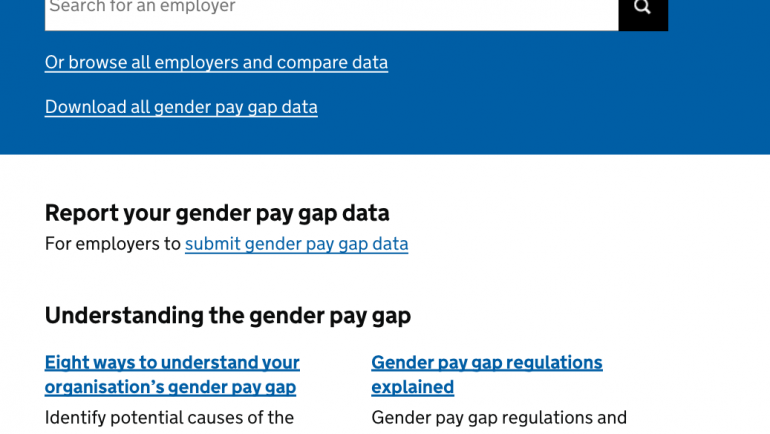 Find, compare and learn about gender pay gap data in the UK
