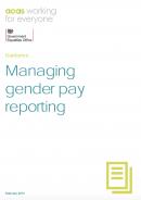 Gender pay gap guidance: Managing gender pay reporting