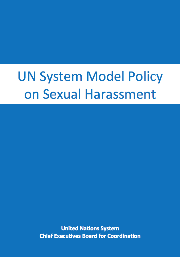 UN System Model Policy on Sexual Harassment