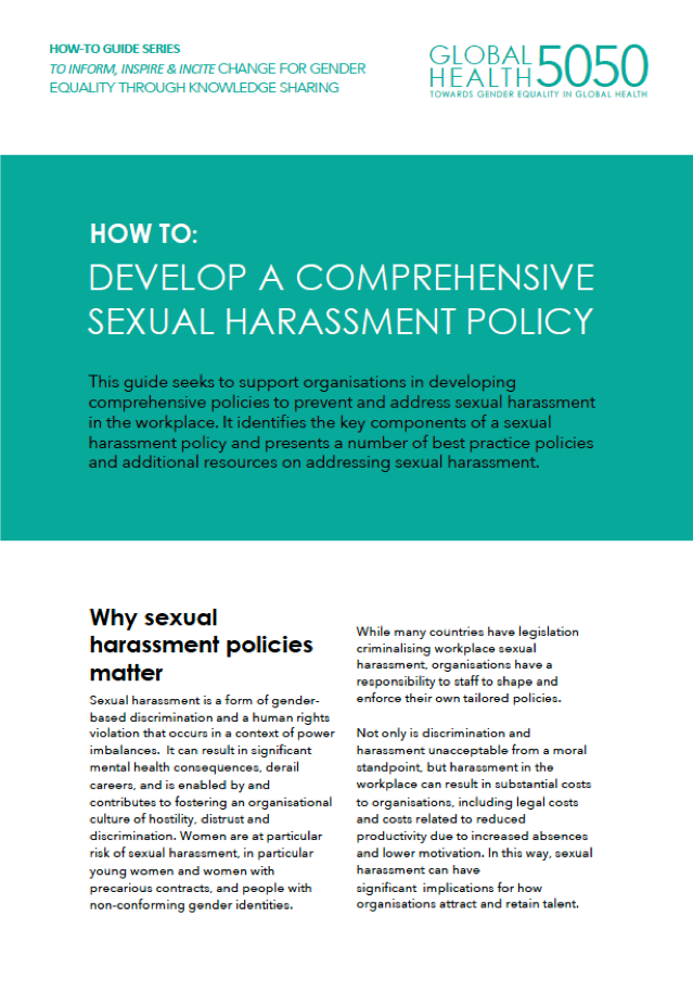 GH5050 How-To: Develop A Comprehensive Sexual Harassment Policy