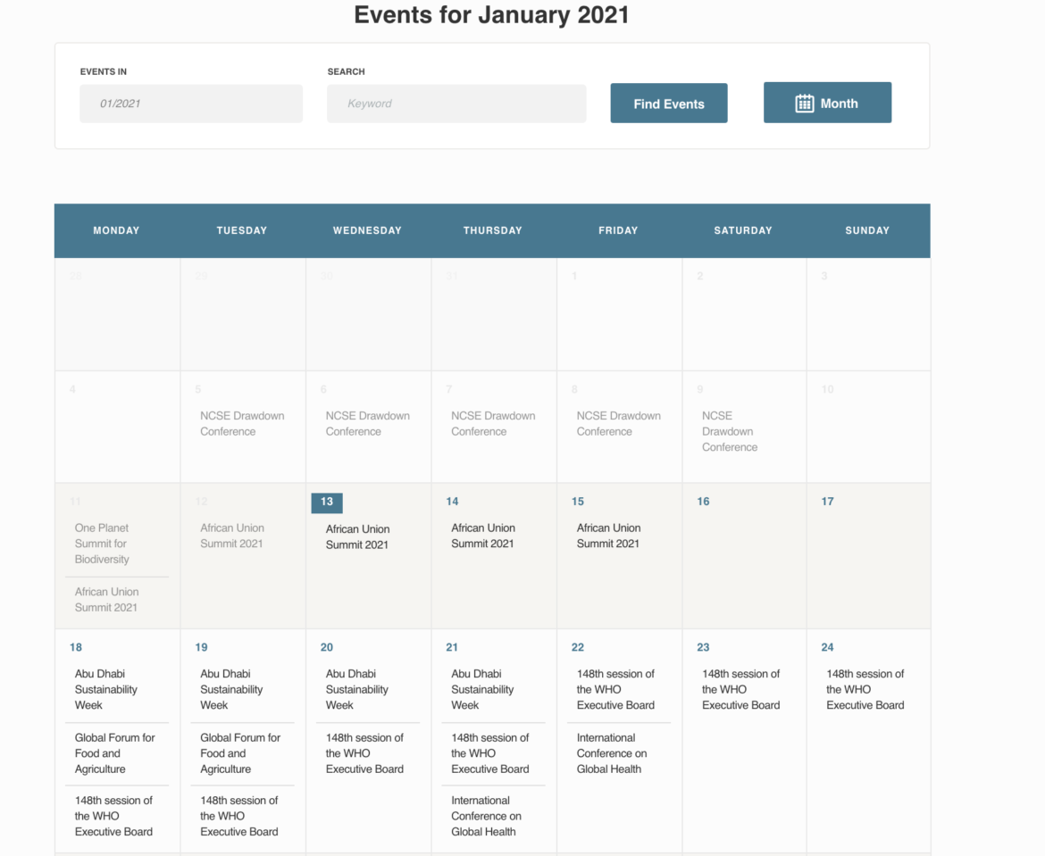 Global Health 50/50 launches the Global Health Events Calendar