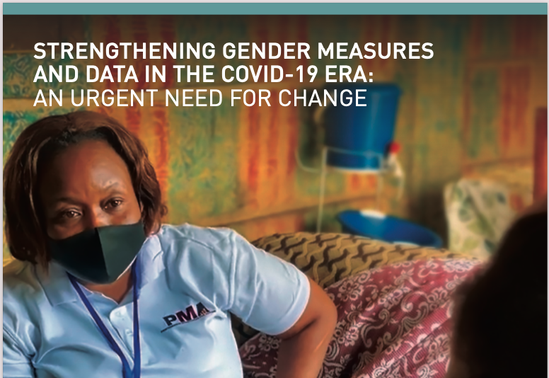 Strengthening gender measures and data in the COVID-19 era: An urgent need for change